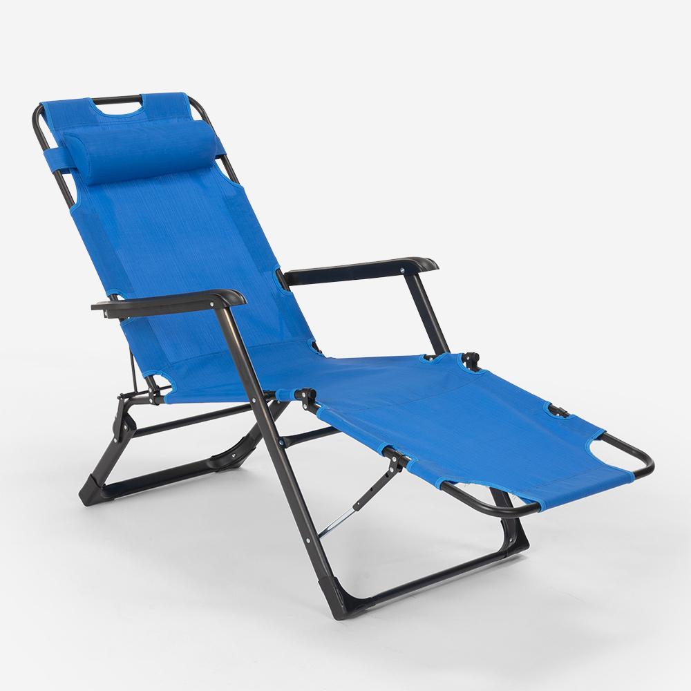 miniatura 25 - Sedia sdraio per spiaggia e giardino pieghevole multiposizione Emily Lux Zero Gr