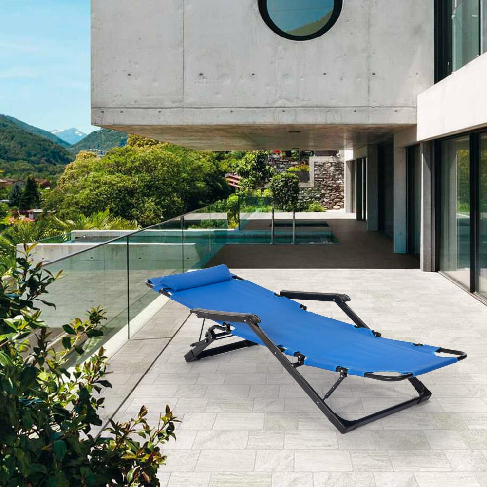 miniatura 23 - Sedia sdraio per spiaggia e giardino pieghevole multiposizione Emily Lux Zero Gr