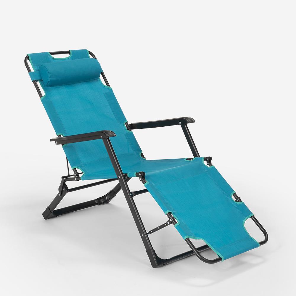 miniatura 51 - Sedia sdraio per spiaggia e giardino pieghevole multiposizione Emily Lux Zero Gr