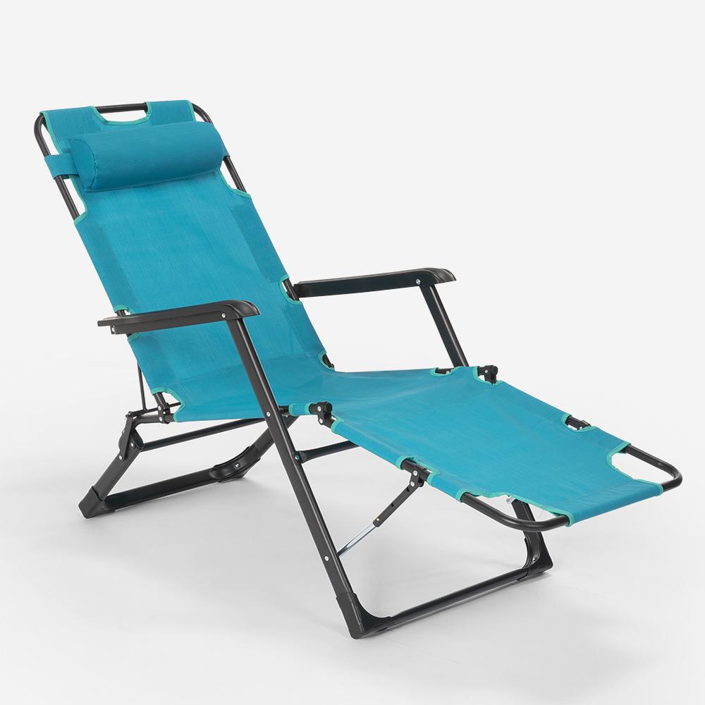 miniatura 52 - Sedia sdraio per spiaggia e giardino pieghevole multiposizione Emily Lux Zero Gr