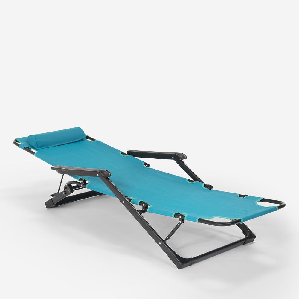 miniatura 53 - Sedia sdraio per spiaggia e giardino pieghevole multiposizione Emily Lux Zero Gr