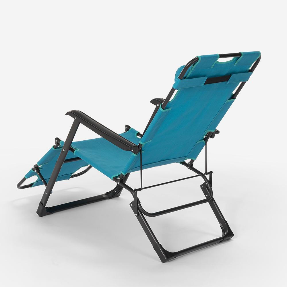 miniatura 54 - Sedia sdraio per spiaggia e giardino pieghevole multiposizione Emily Lux Zero Gr