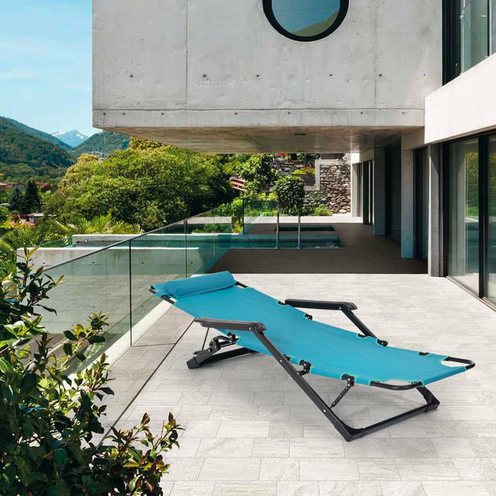 miniatura 50 - Sedia sdraio per spiaggia e giardino pieghevole multiposizione Emily Lux Zero Gr