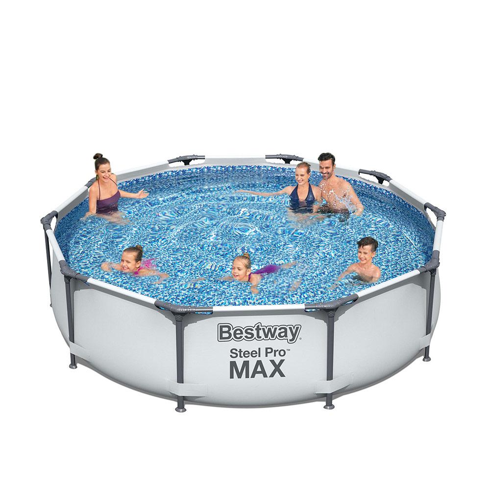 Piscina fuoriterra Bestway Steel Pro Max Pool Set rotonda 366x76cm 56416