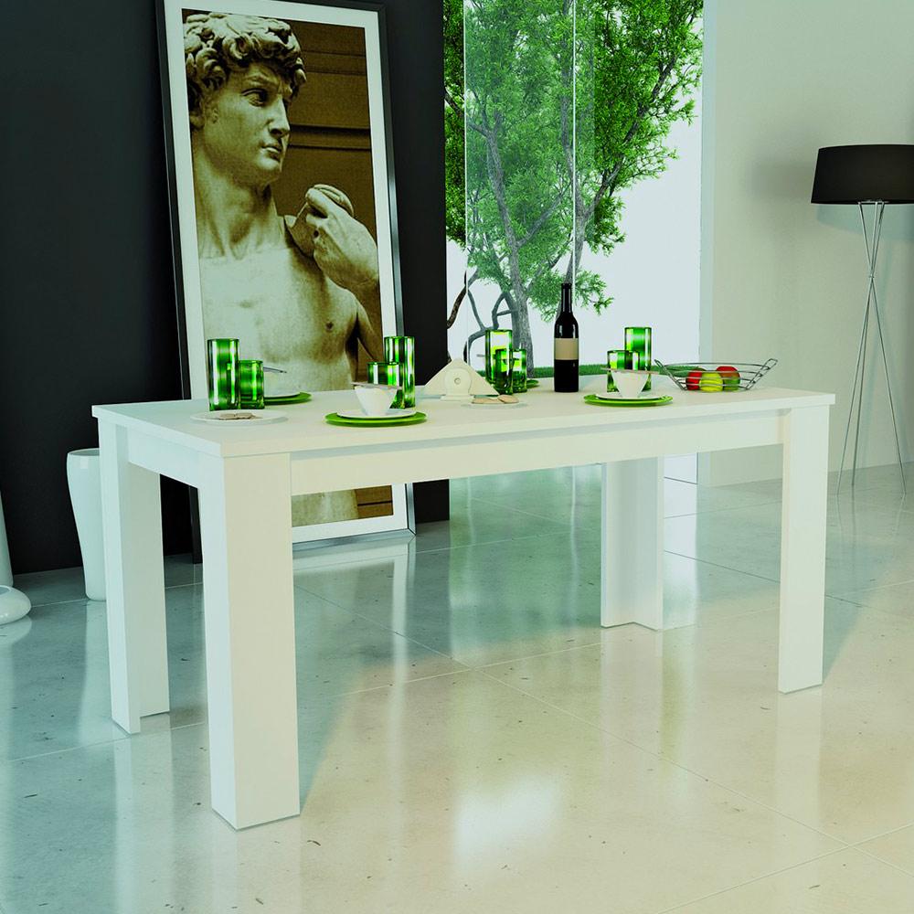 Tavolo Consolle Allungabile Da Pranzo Design Moderno Bianco Jesi Long
