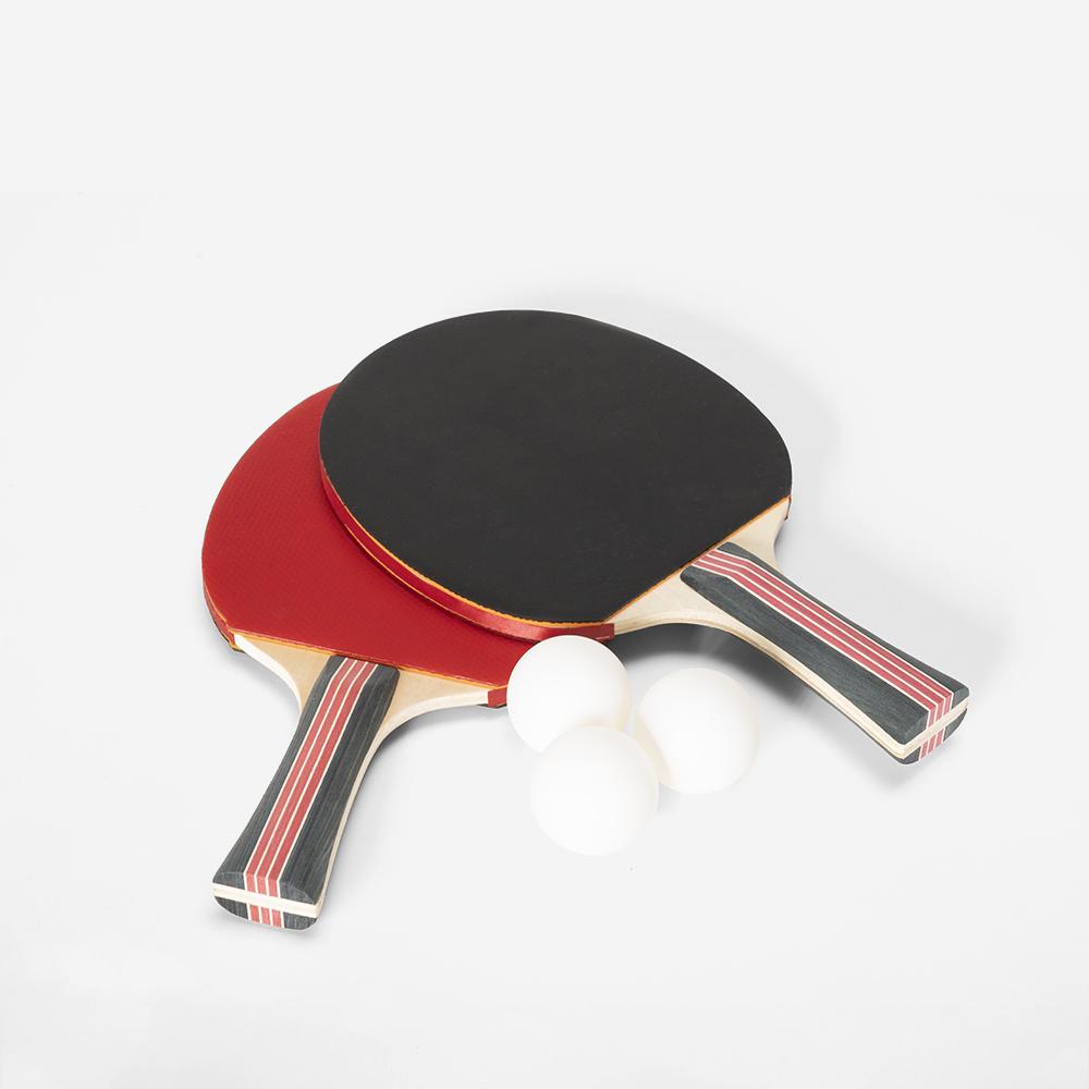 Set 2 racchette e 3 palline per ping pong Corkscrew