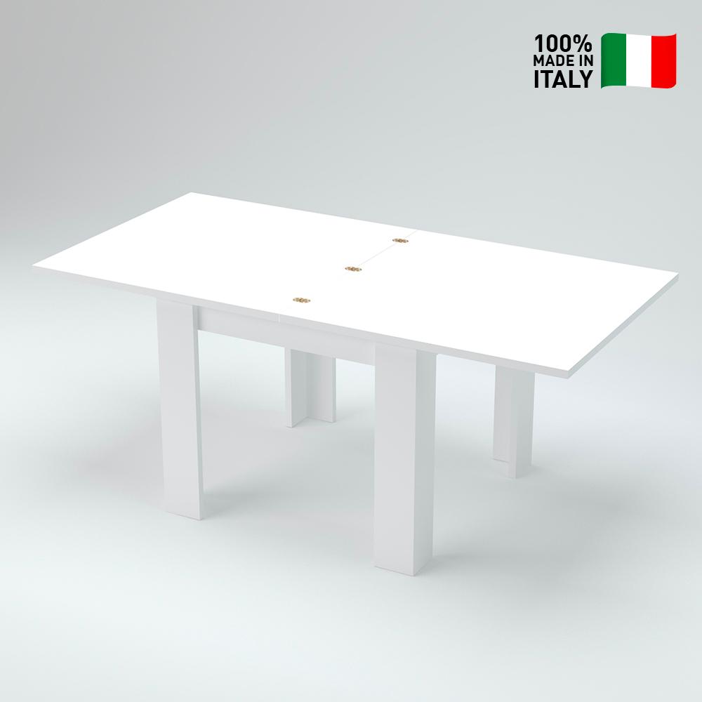 Tavolo Da Pranzo Consolle Allungabile A Libro Design Moderno Bianco Jesi Liber