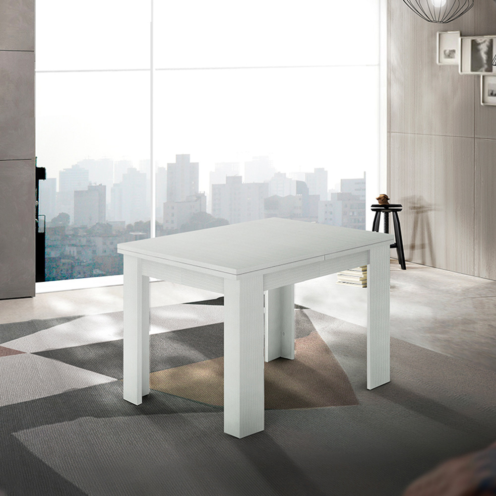 Tavolo Da Pranzo Allungabile Consolle A Libro Design Legno Bianco Jesi Liber Wood