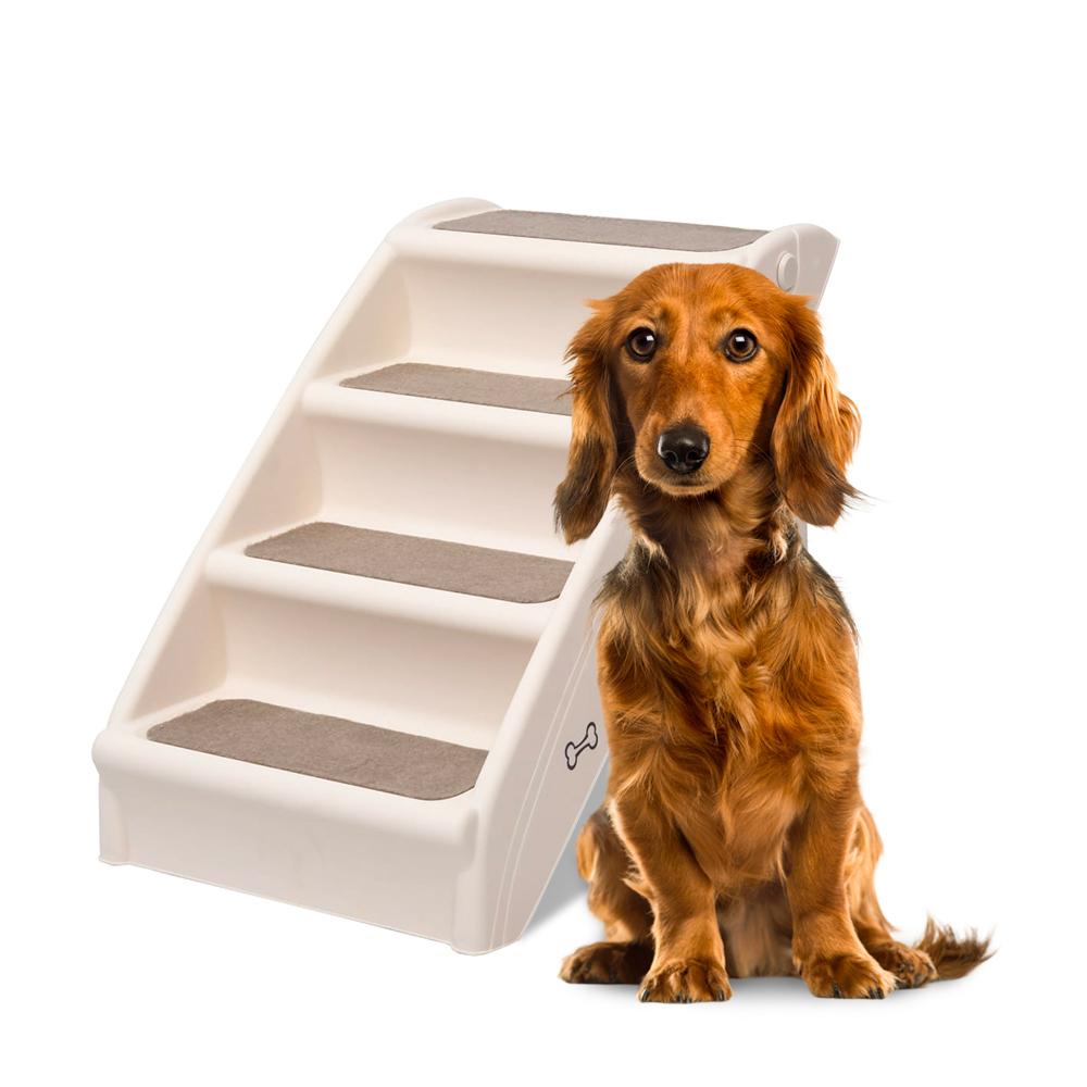Scaletta pieghevole per animali domestici con 4 scalini in plastica Diva