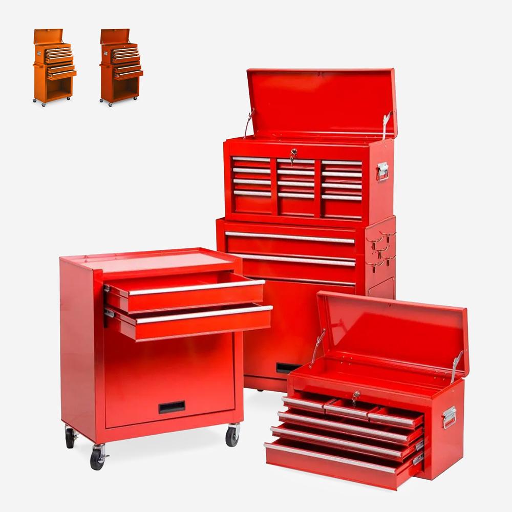 cassettiera porta attrezzi da lavoro ruote 8 cassetti GARAGE ULTRA