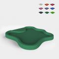 Piatto doccia da esterno giardino piscina moderno 103x107cm Arkema Design Lake D108