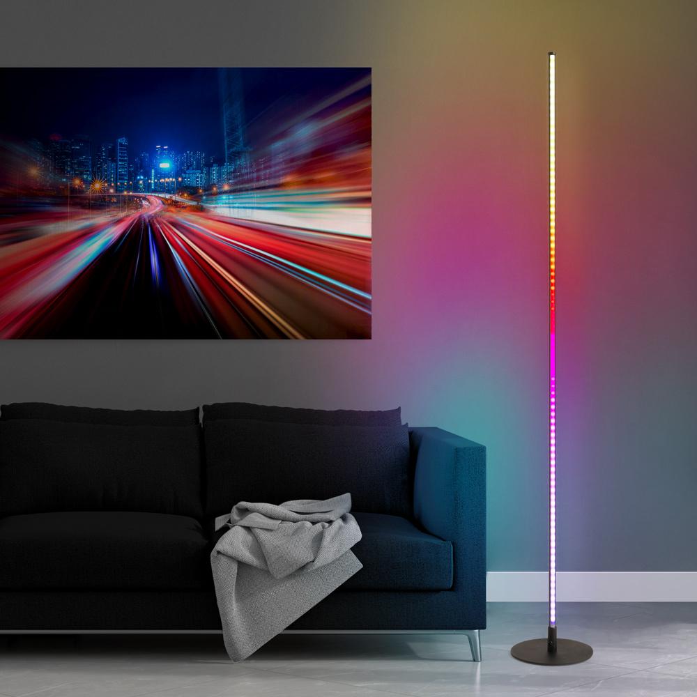 Lampada da terra a stelo LED design minimal moderno telecomando RGB Dubhe