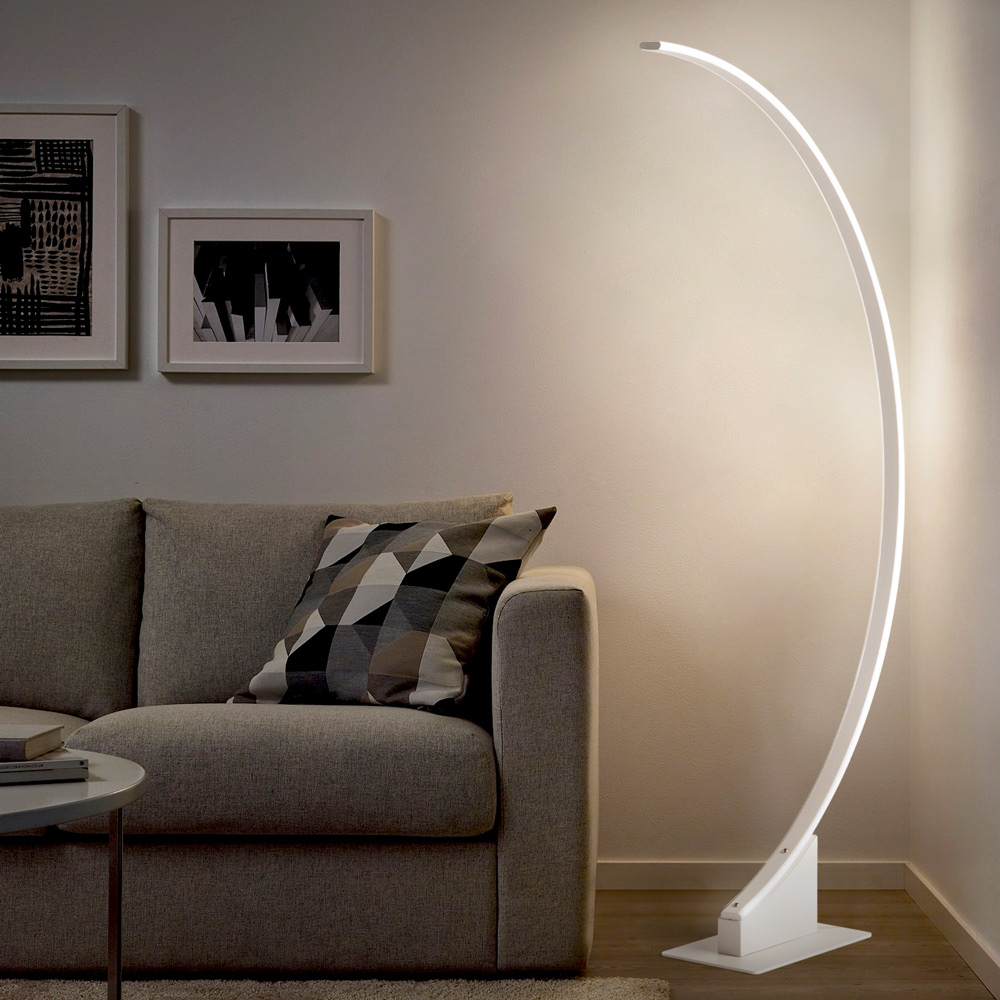 Lampada da terra soggiorno moderno luce LED piantana ad arco Aldebaran