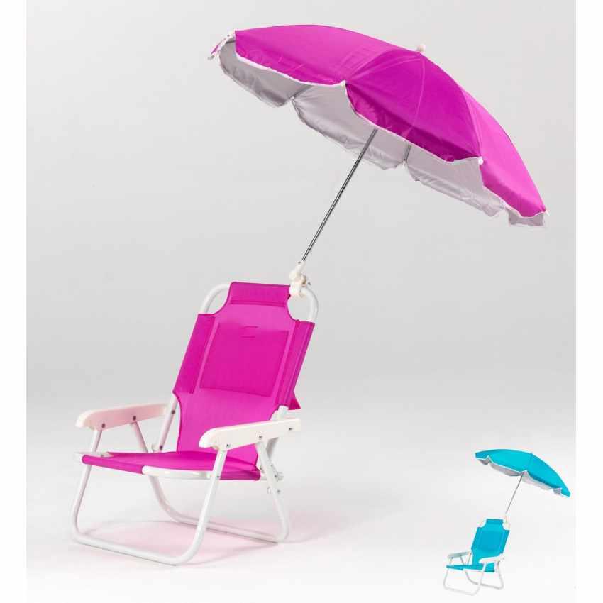 Sedia per bambini da mare e spiaggia con ombrellino CHILD