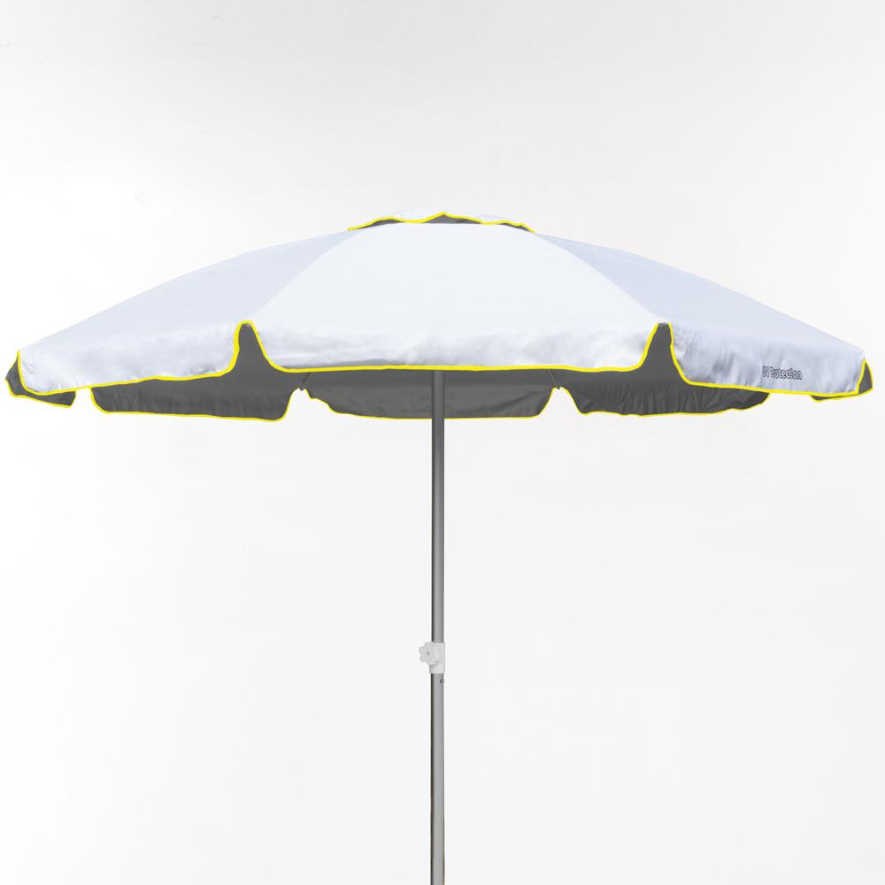 miniature 36 - Parasol de plage 220 cm aluminium coupe-vent professionnel UV protection Bagnino