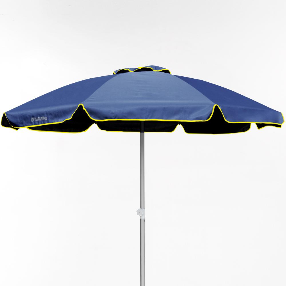 miniature 22 - Parasol de plage 220 cm aluminium coupe-vent professionnel UV protection Bagnino