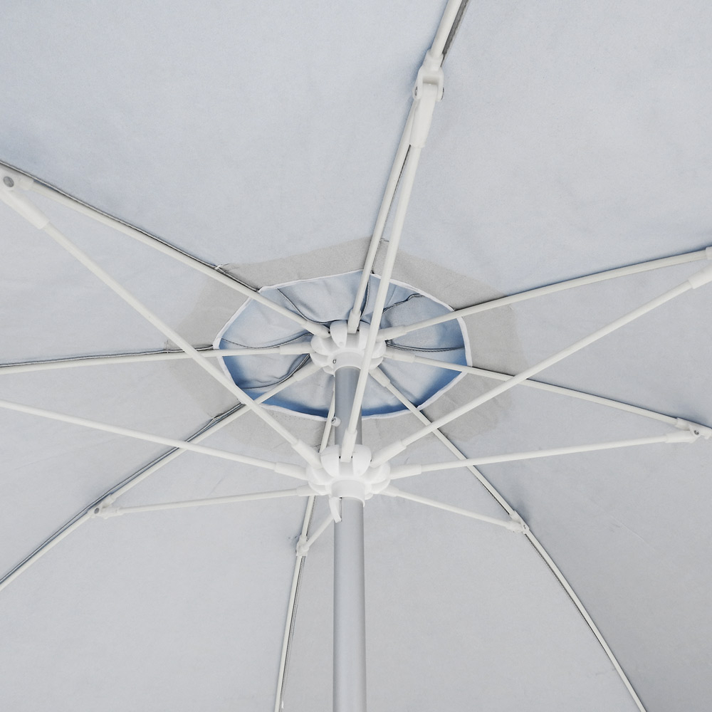 miniature 16 - Parasol de plage 220 cm aluminium coupe-vent professionnel UV protection Bagnino