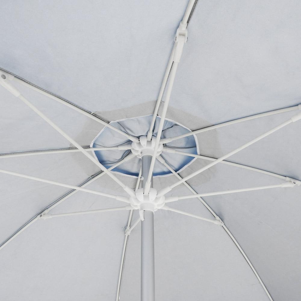 miniature 30 - Parasol de plage 220 cm aluminium coupe-vent professionnel UV protection Bagnino