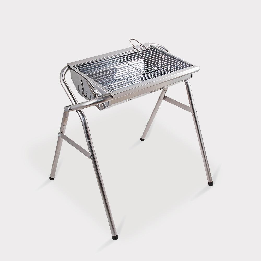 Barbecue pieghevole portatile griglia acciaio carbonella campeggio giardino Oak