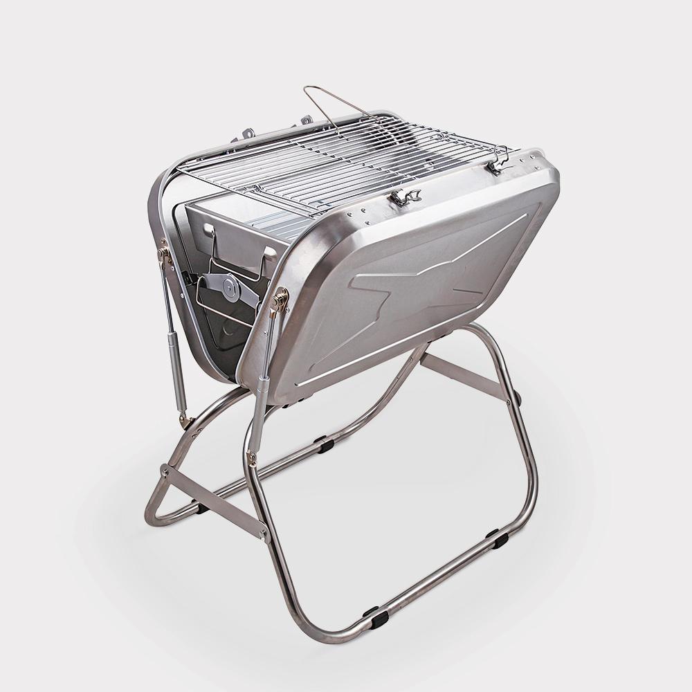 Barbecue portatile valigetta pieghevole griglia carbonella Beech
