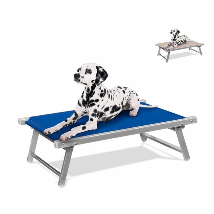 Lettino Brandina per Cani Cuccia in Alluminio e Textilene Lavabile DOGGY - esterno