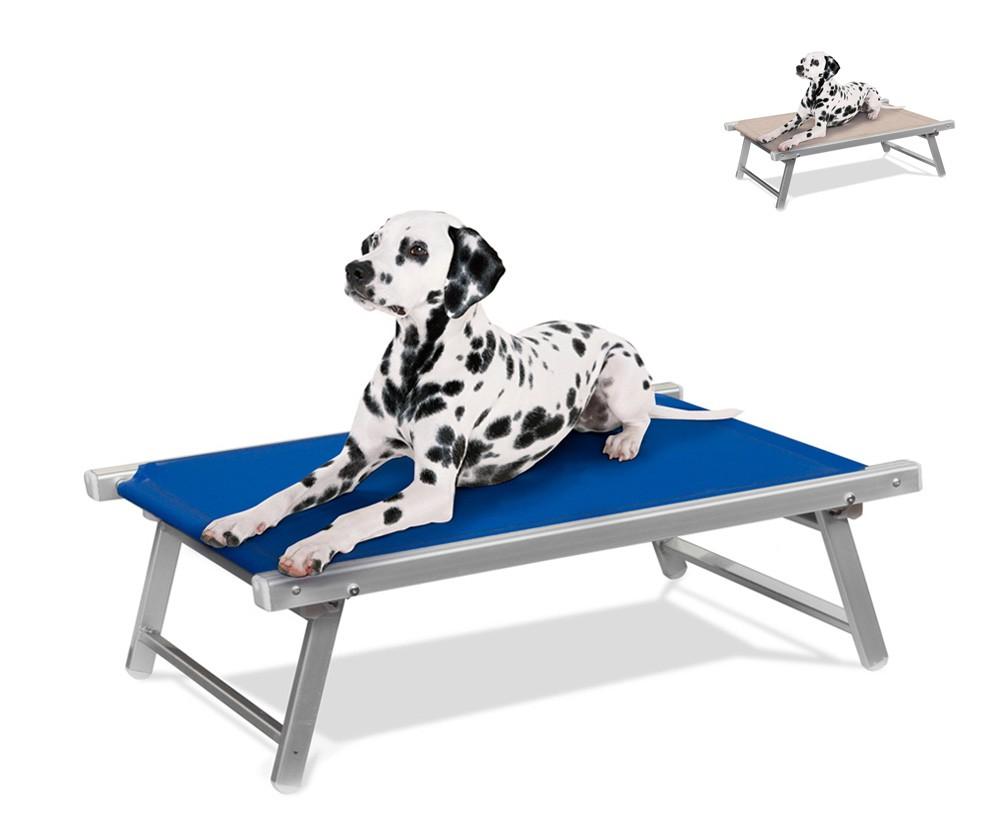 LC104TEX - Brandina per cani lettino spiaggia mare in alluminio animali Doggy -