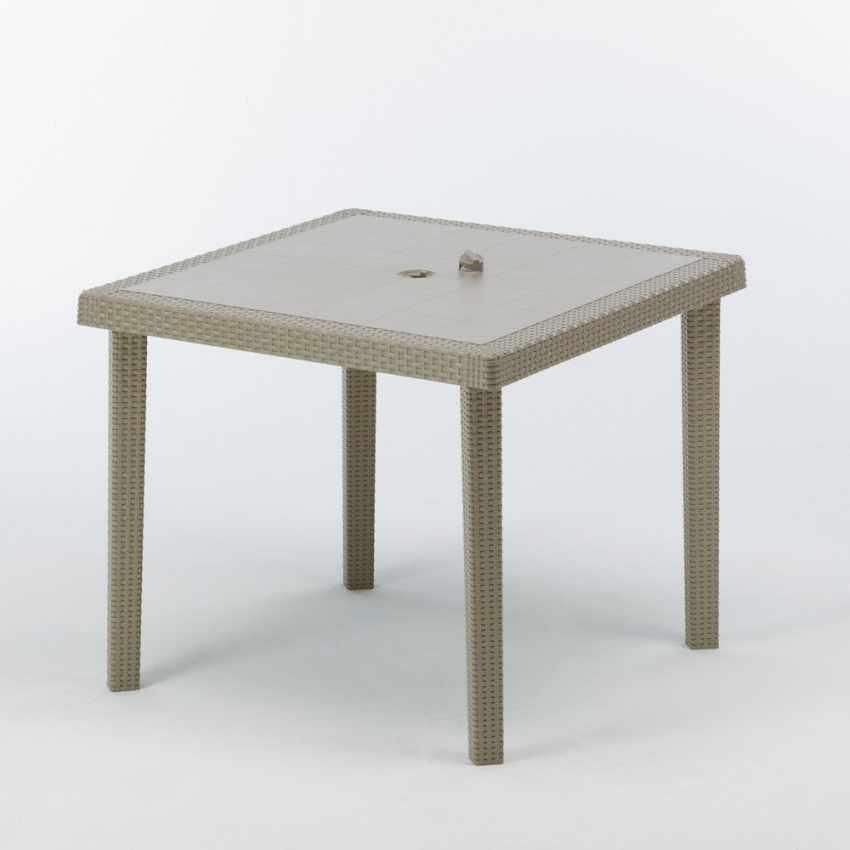 Tavolo bar giardino poly rattan quadrato 90x90 Grand Soleil BOHEME - promo