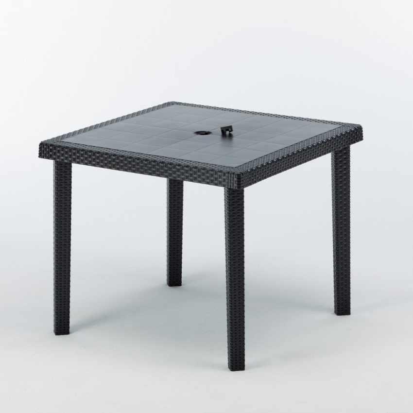 12 Tavoli bar poly rattan quadrati 90x90 Grand Soleil BOHEME - prezzo