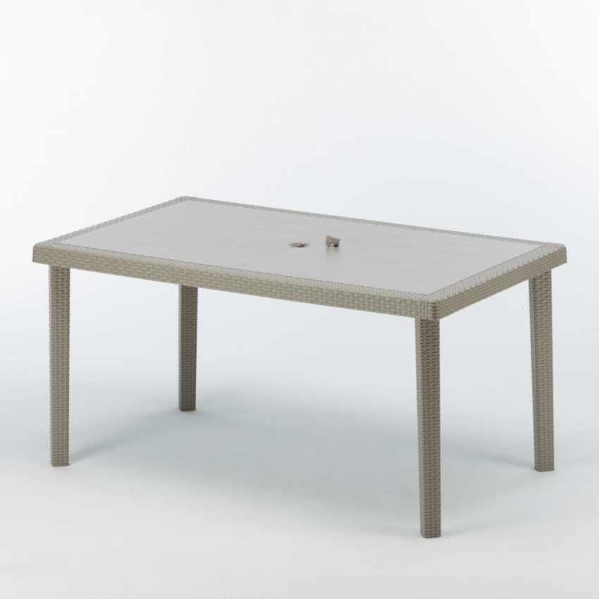 Tavolo Poly rattan rettangolare 150x90 Grand Soleil BOHEME - price