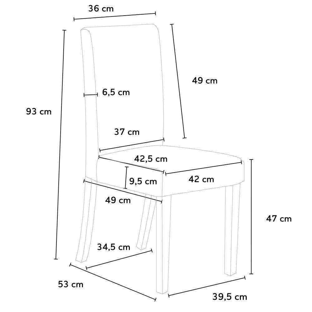 miniatura 48 - Sedia in legno imbottita stile henriksdal per cucina sala da pranzo Comfort