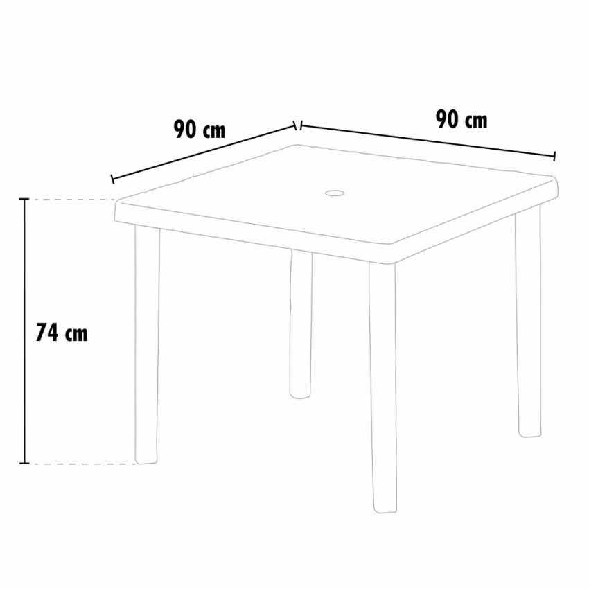 12 Tavoli bar poly rattan quadrati 90x90 Grand Soleil BOHEME - offerta