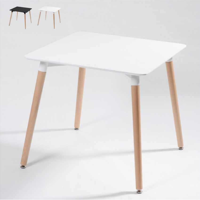 Tavolo DSW Eamess DAW quadrato in legno e polipropilene 80x80 bar - prezzo