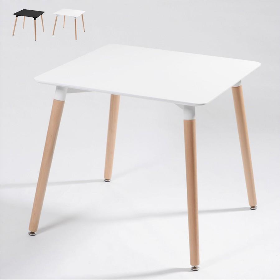 Tavolo Soggiorno quadrato in legno e polipropilene 80x80 WOODEN - indoor