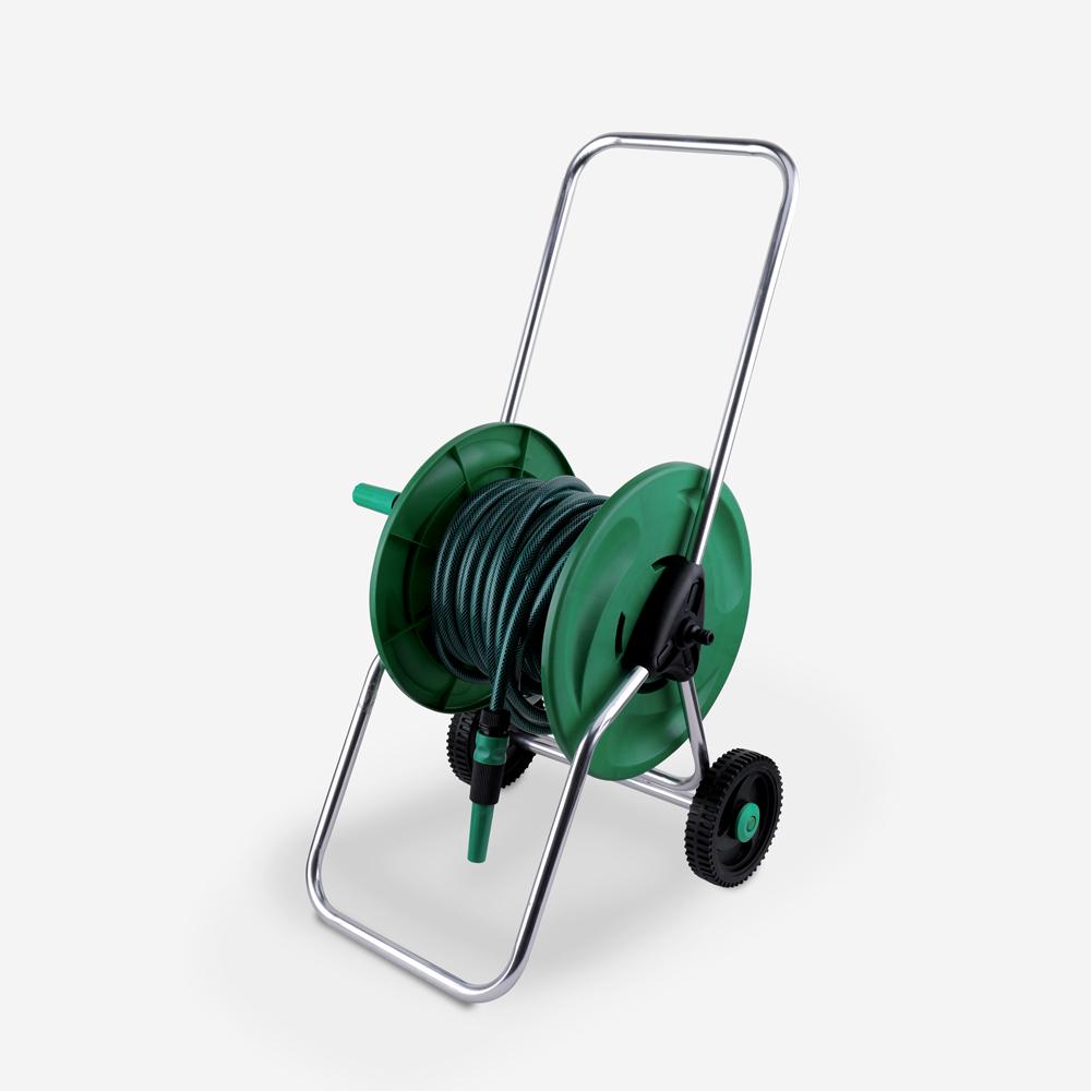 Carrello avvolgitubo con bobina tubo 20m irrigazione giardino Tubulus