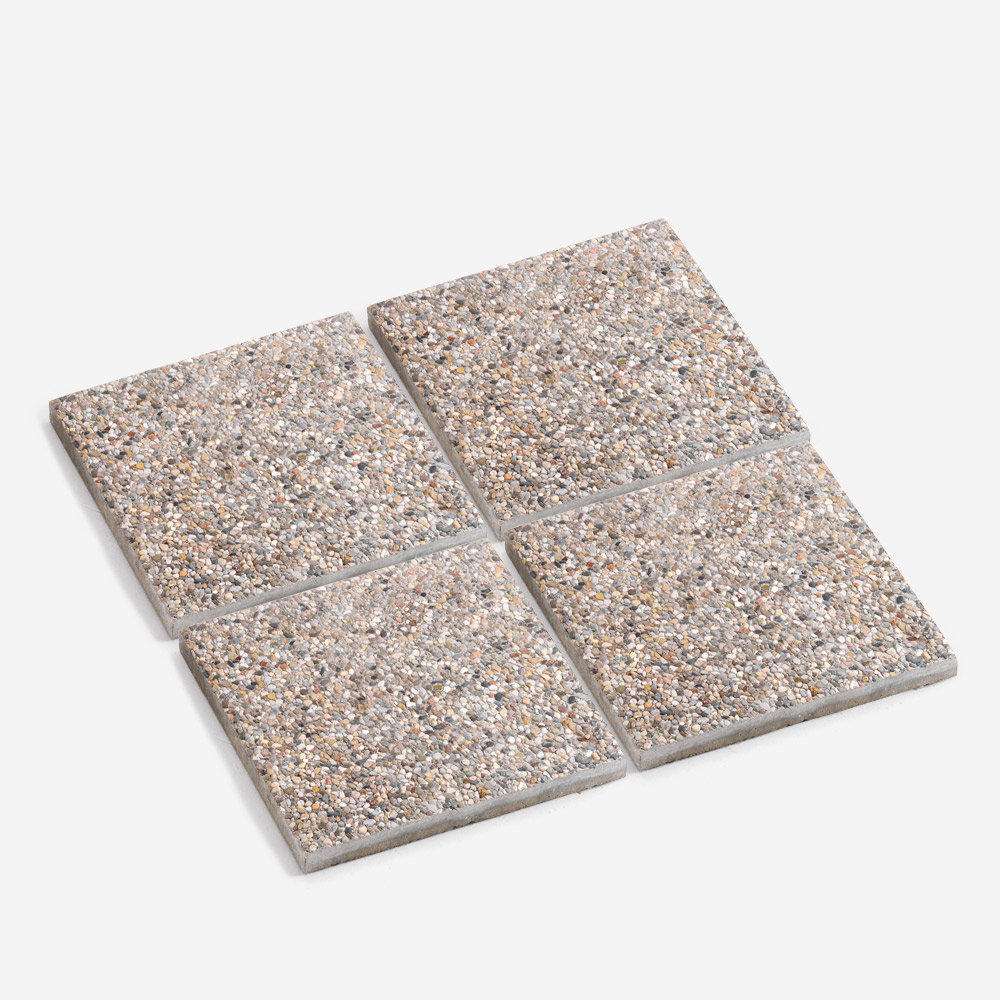 Set 4 piastre cemento 50x50 cm base piscina mattonella giardino gazebo