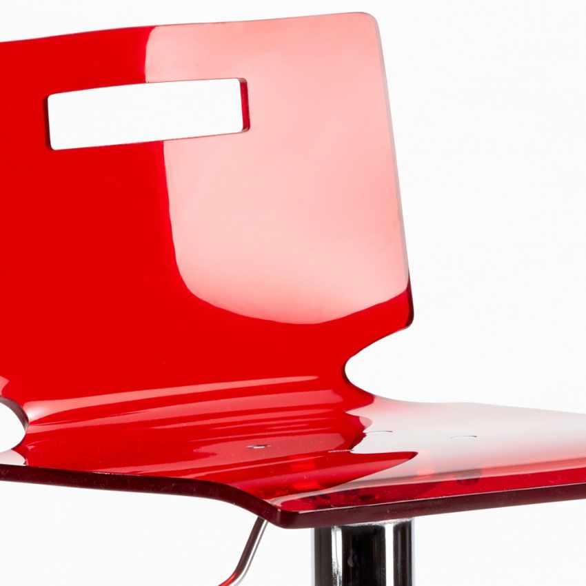 Sgabello per bar e cucina acciaio cromato SAN JOSE Design Moderno - forniture