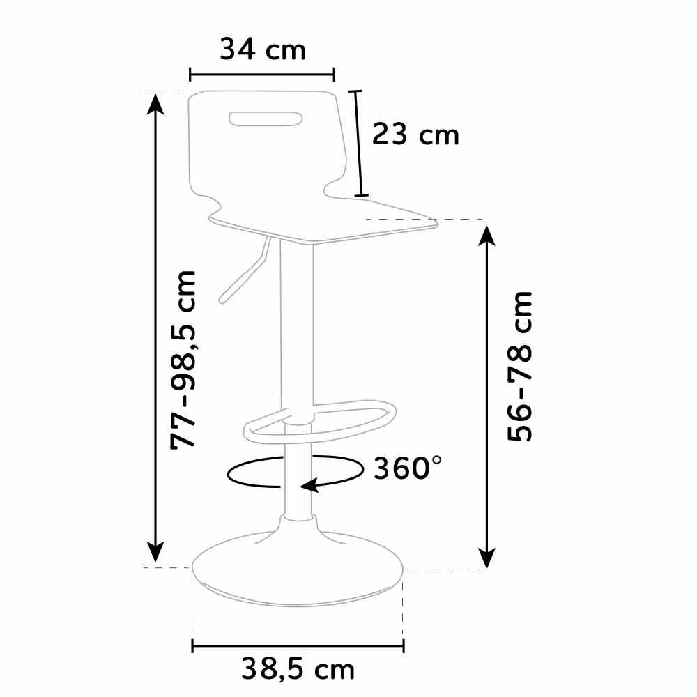 Sgabello per bar e cucina policarbonato acciaio al cromo SAN JOSE ...