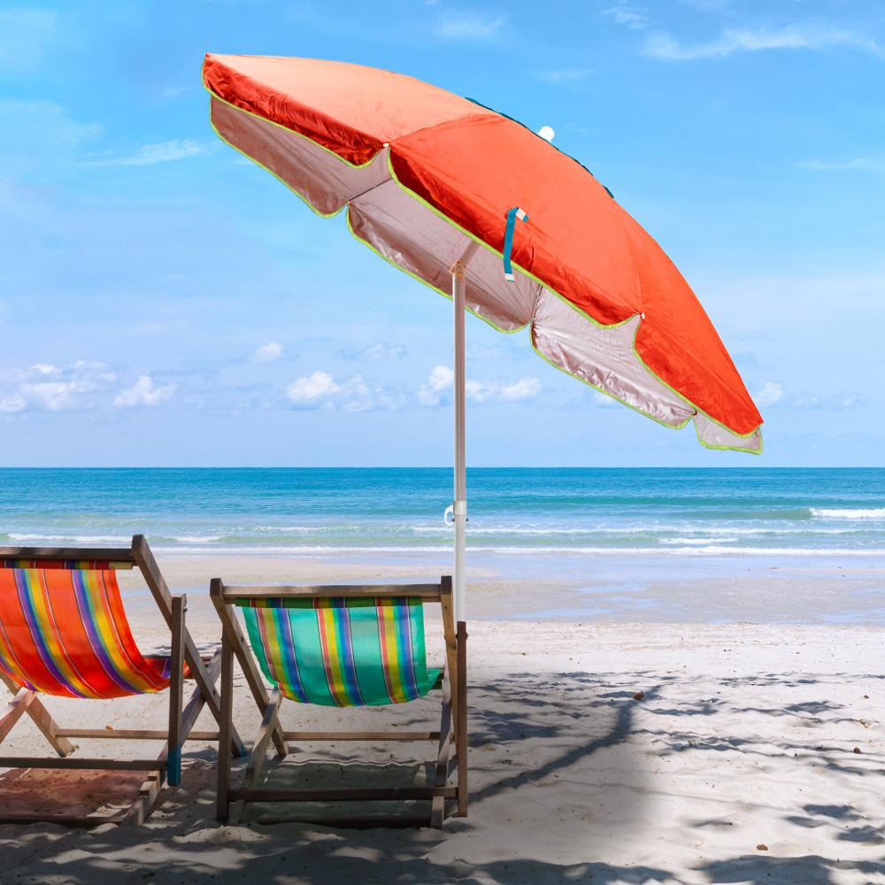 miniatura 17 - Ombrellone mare spiaggia 200 cm antivento acciaio tessuto protezione uv SARDEGNA