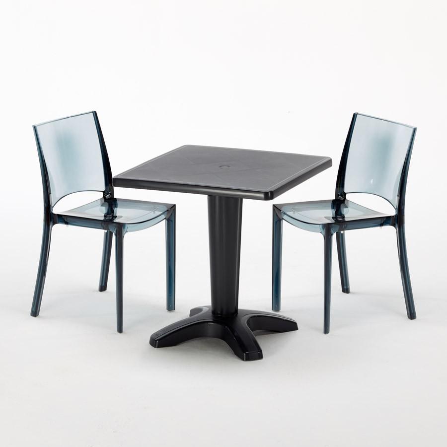 Tisch Quadratisch Mit 2 Bunten Polycarbonat Outdoor