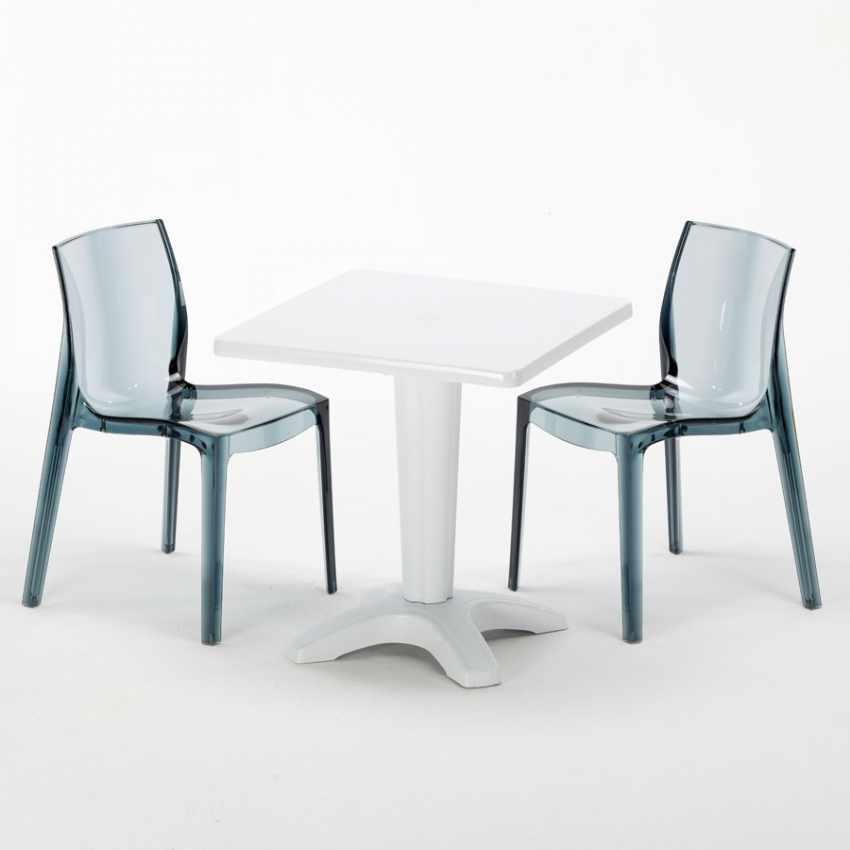 Set esterni tavolino quadrato 2 sedie da esterni colorate for Sedie made in italy