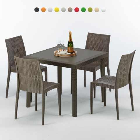 Sedie E Tavoli Da Esterno.Sedie E Tavoli Polyrattan Per Giardino Esterni E Bar