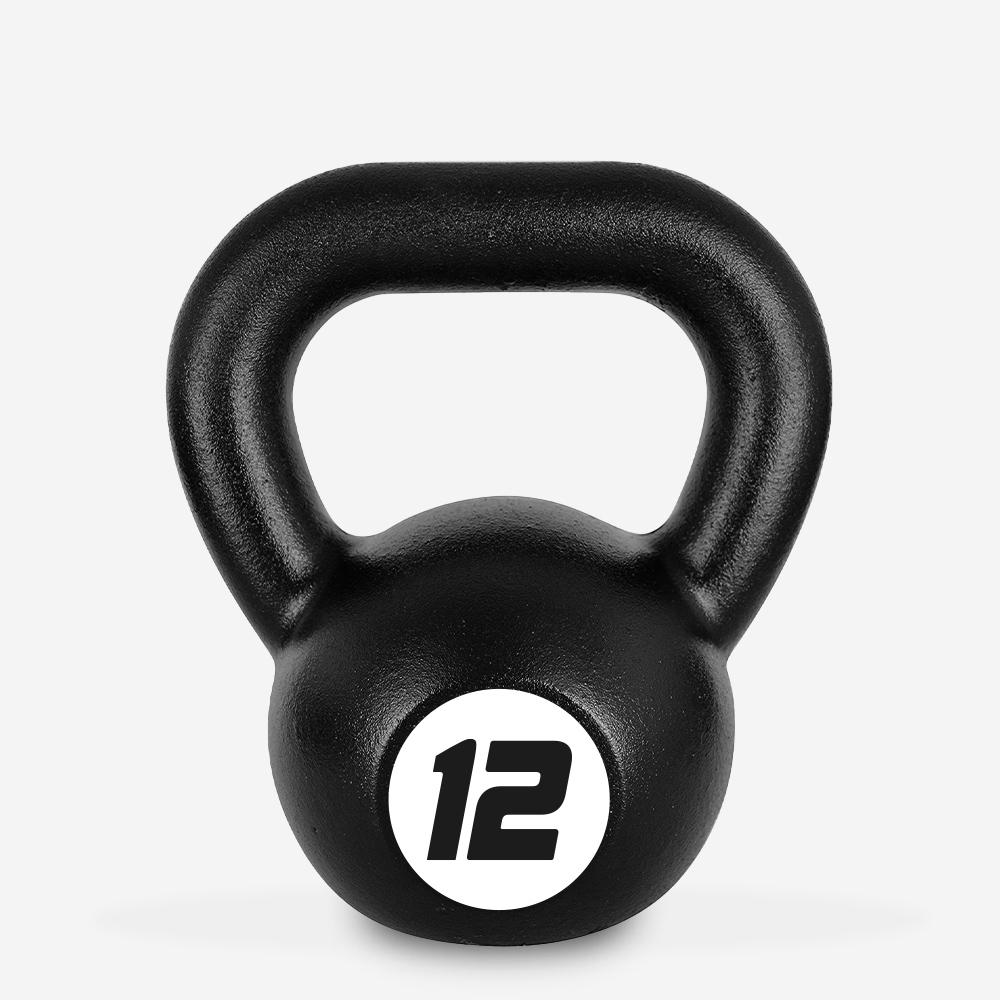 Kettlebell in ferro peso 12 kg sfera maniglia crossfit fitness Kotaro
