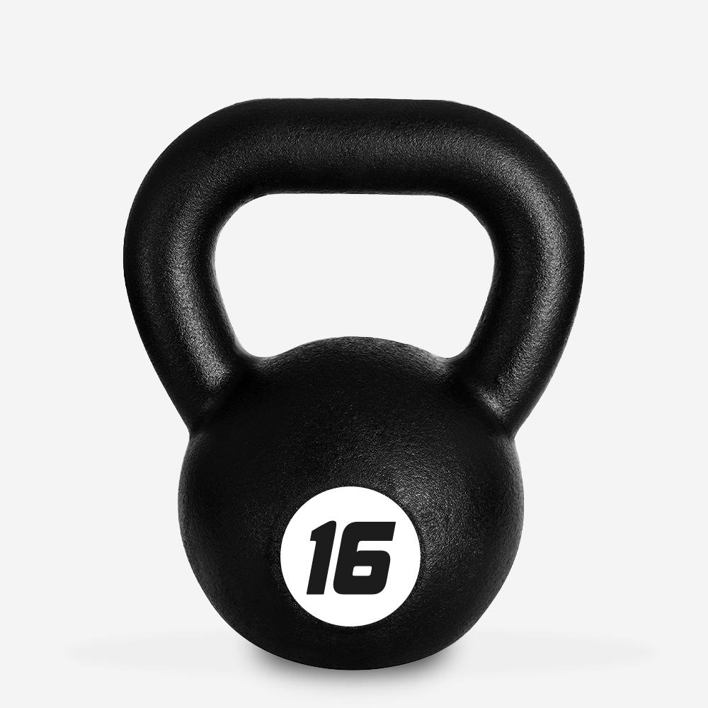 Kettlebell in ferro peso 16 kg sfera maniglia crossfit fitness Kotaro