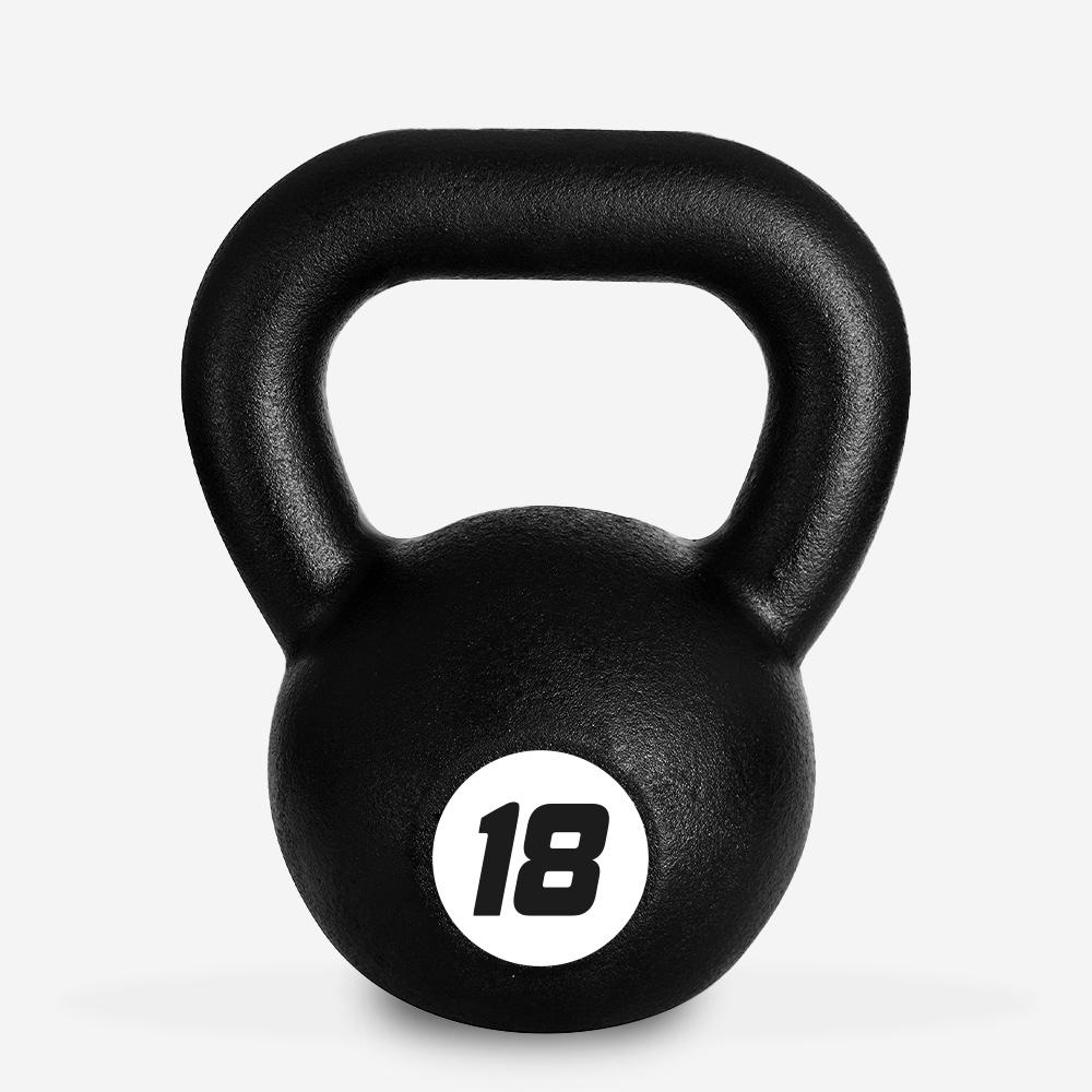 Kettlebell in ferro peso 18 kg sfera maniglia crossfit fitness Kotaro
