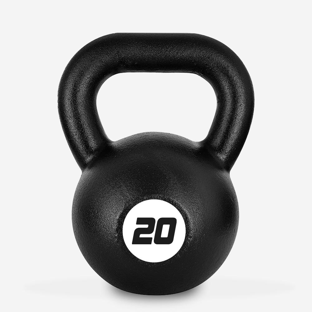 Kettlebell in ferro peso 20 kg sfera maniglia crossfit fitness Kotaro