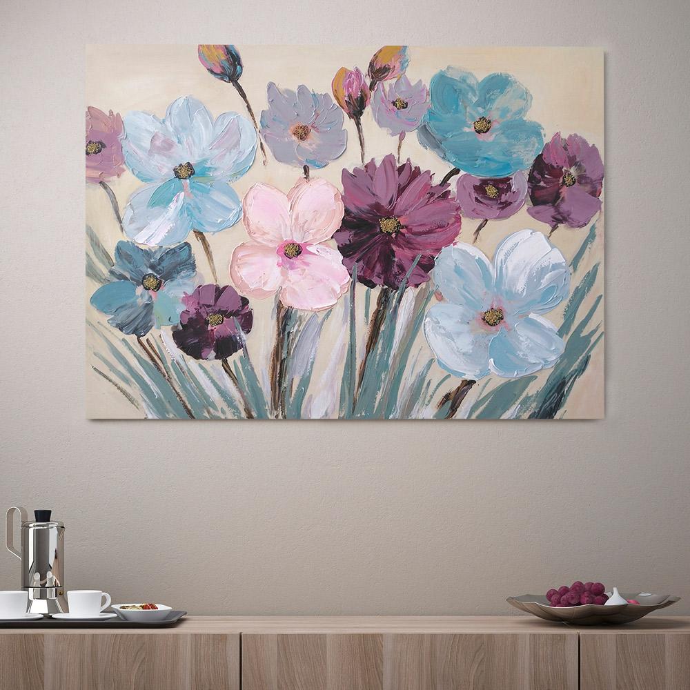 quadro tela dipinto a mano FLOWERY SPA in casa