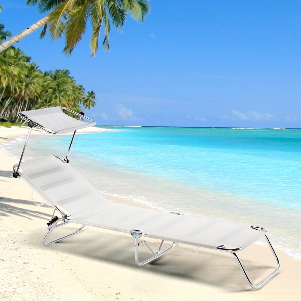 miniatura 4 - Lettino spiaggia mare brandina pieghevole alluminio Cancun