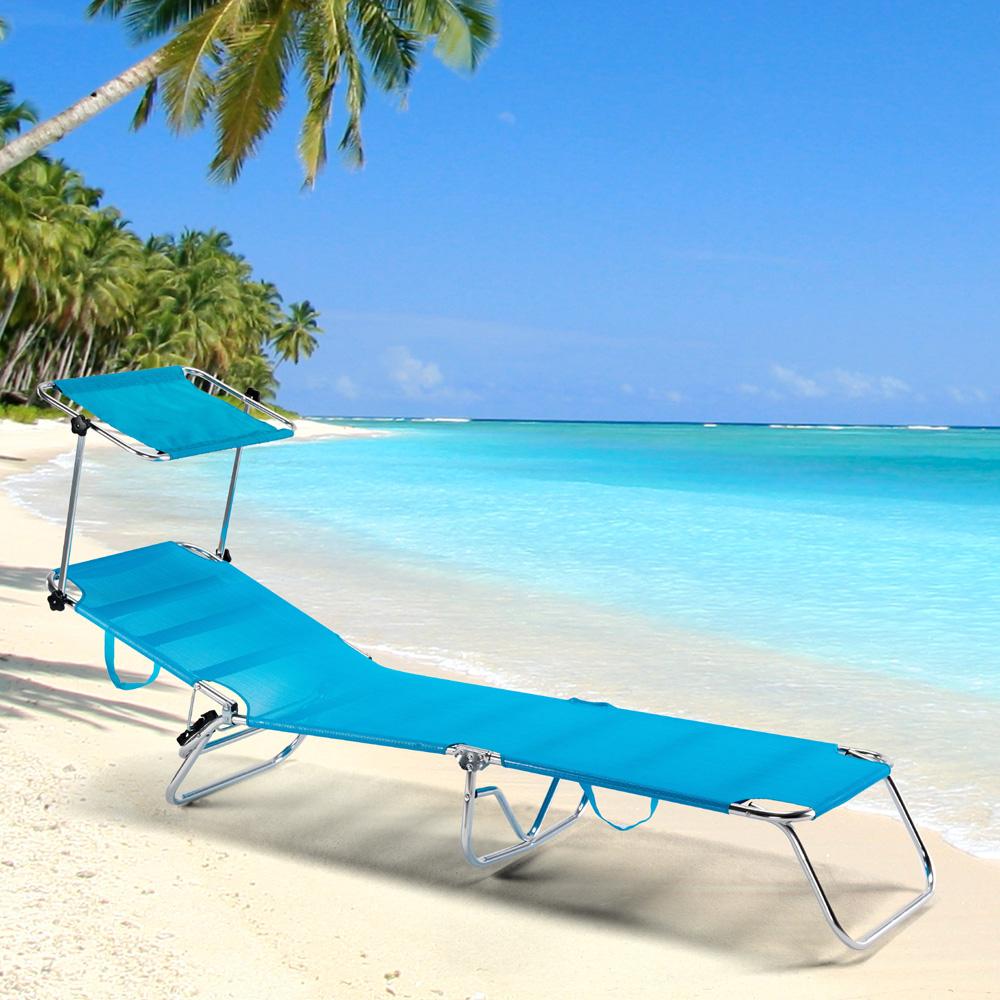 miniatura 2 - Lettino spiaggia mare brandina pieghevole alluminio Cancun