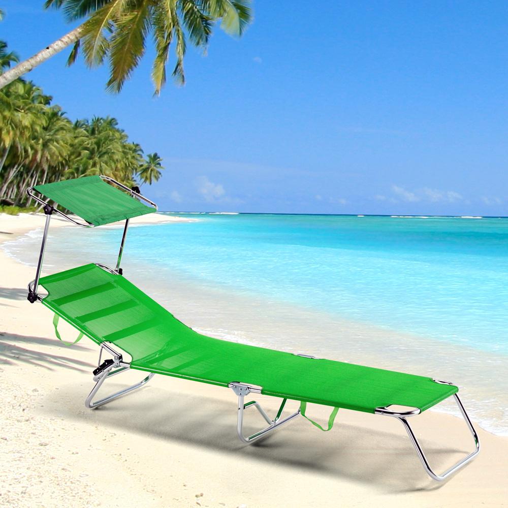 miniatura 6 - Lettino spiaggia mare brandina pieghevole alluminio Cancun