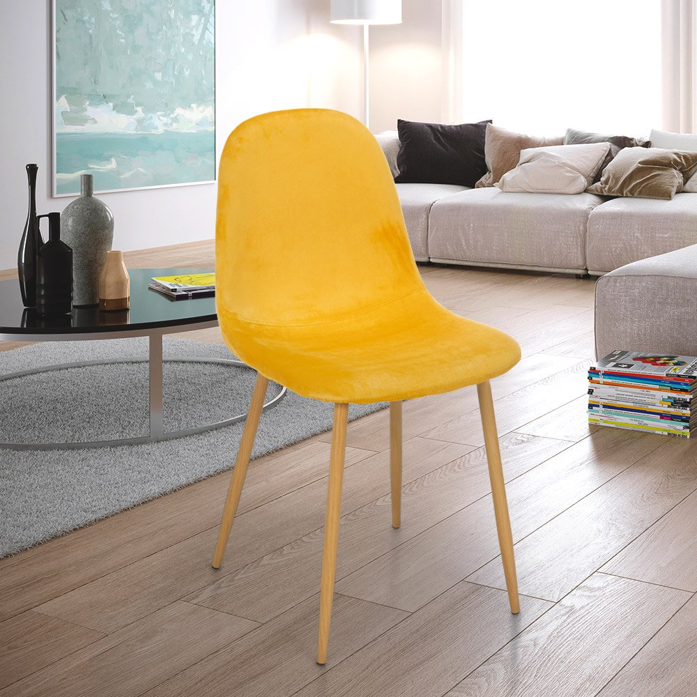 Nordic Design Chair Wood And Fabric For Kitchen Bar Restaurant Salmon